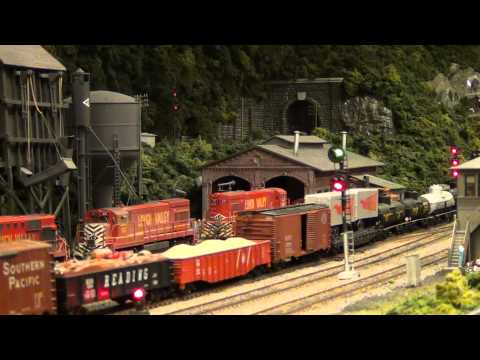 Lehigh Valley Railroad Steam at Lehighton Tower (Lehigh & Keystone Valley Model Railroad Museum)