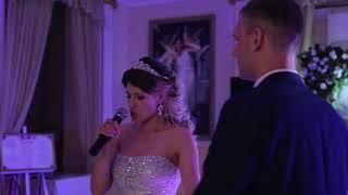 "Bride singing ""Because you loved me"" by Celine Dion"