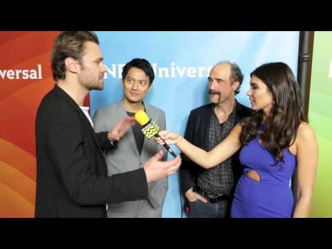 Patrick Flueger, Elias Koteas & Archie Kao from Chicago PD @ NBC Red Carpet  AfterBuzz TV