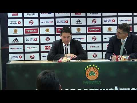Euroleague Post - Game Press Conference: Panathinaikos Superfoods vs Khimki Moscow Region