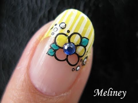 Konad stamping nail art tutorial i dream of daffodil yellow konad stamping nail art tutorial i dream of daffodil yellow flower spring easter design french tip prinsesfo Images