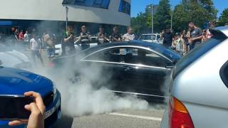 CL500 AMG BURNOUT @ Cars & Coffee Stuttgart
