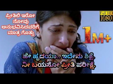 Kannada Sad Song | Hey Hrudaya Idenu Sikshe | Kannada WhatsApp Status Video's |