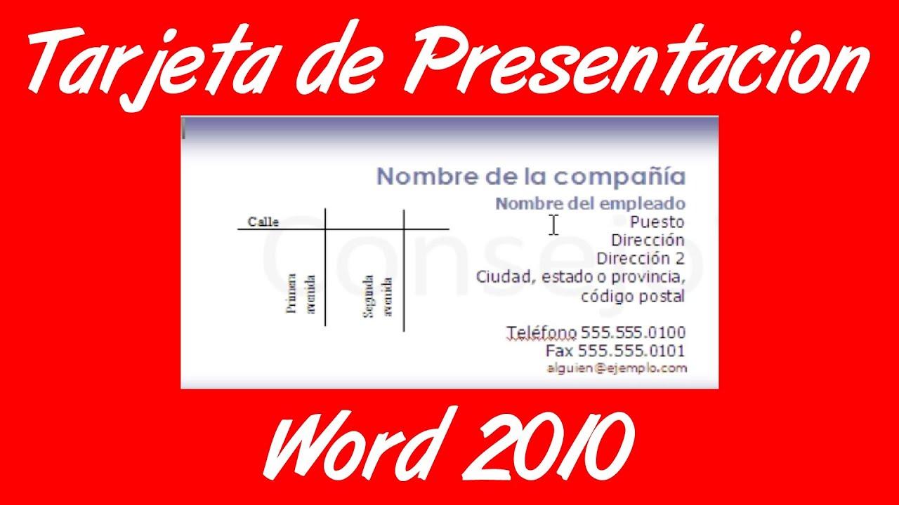 Como hacer una tarjeta de presentacion en word 2007 2010 for Como disenar una casa gratis