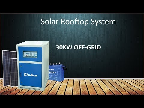 Solar rooftop system | 30kW Off-Grid