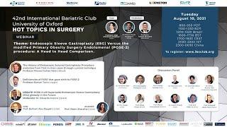 Endoscopic Sleeve Gastroplasty (ESG) Versus the modified Primary Obesity Surgery Endolumenal (POSE-2