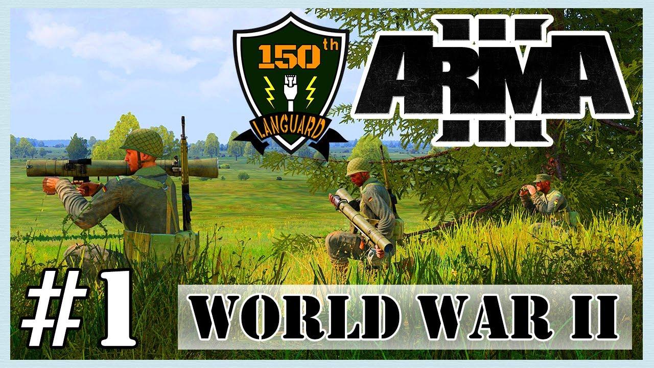 ARMA 3 [150th LANGUARD] #1 COOP MOD CHIẾN TRANH THẾ GIỚI THỨ  2, TẬP LÀM MACHINE GUNNER !!!