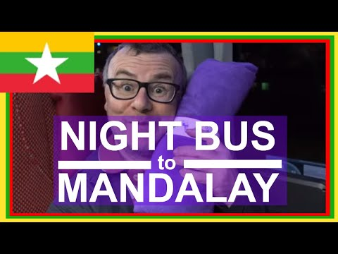 Myanmar Night Bus Journey from Nyuangshwe Inle Lake to Mandalay with JJ Express Buses: Travel Video