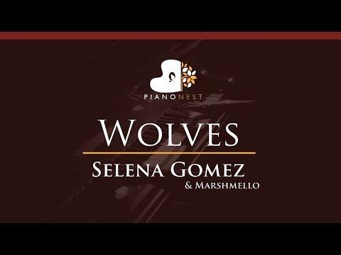 Selena Gomez & Marshmello - Wolves - HIGHER Key (Piano Karaoke / Sing Along)