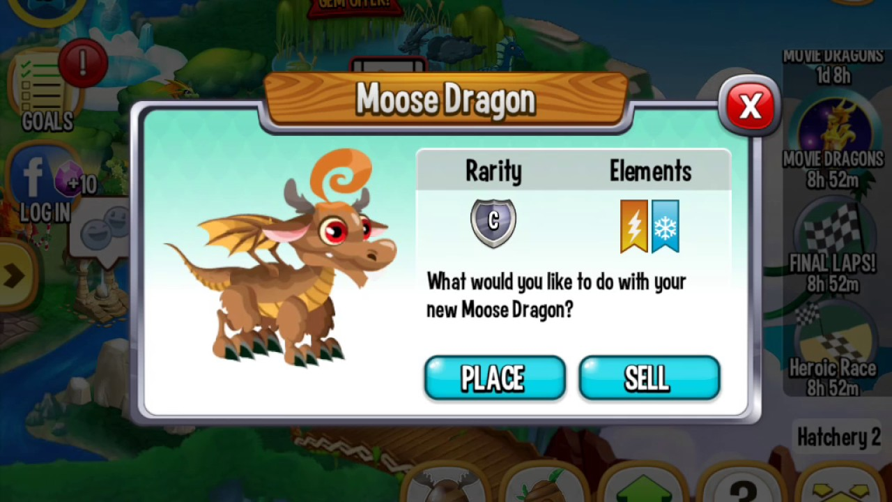 How To Breed The Moose Dragon In Dragon City Youtube