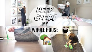 DEEP CLEAN MY WHOLE HOUSE | SPEED CLEAN