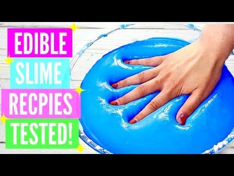 "Testing Popular Edible Slime Recipes! How To Make Edible Slime DIY! *please read the description"""