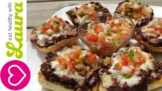 How To Make Molletes - Mexican Pizza