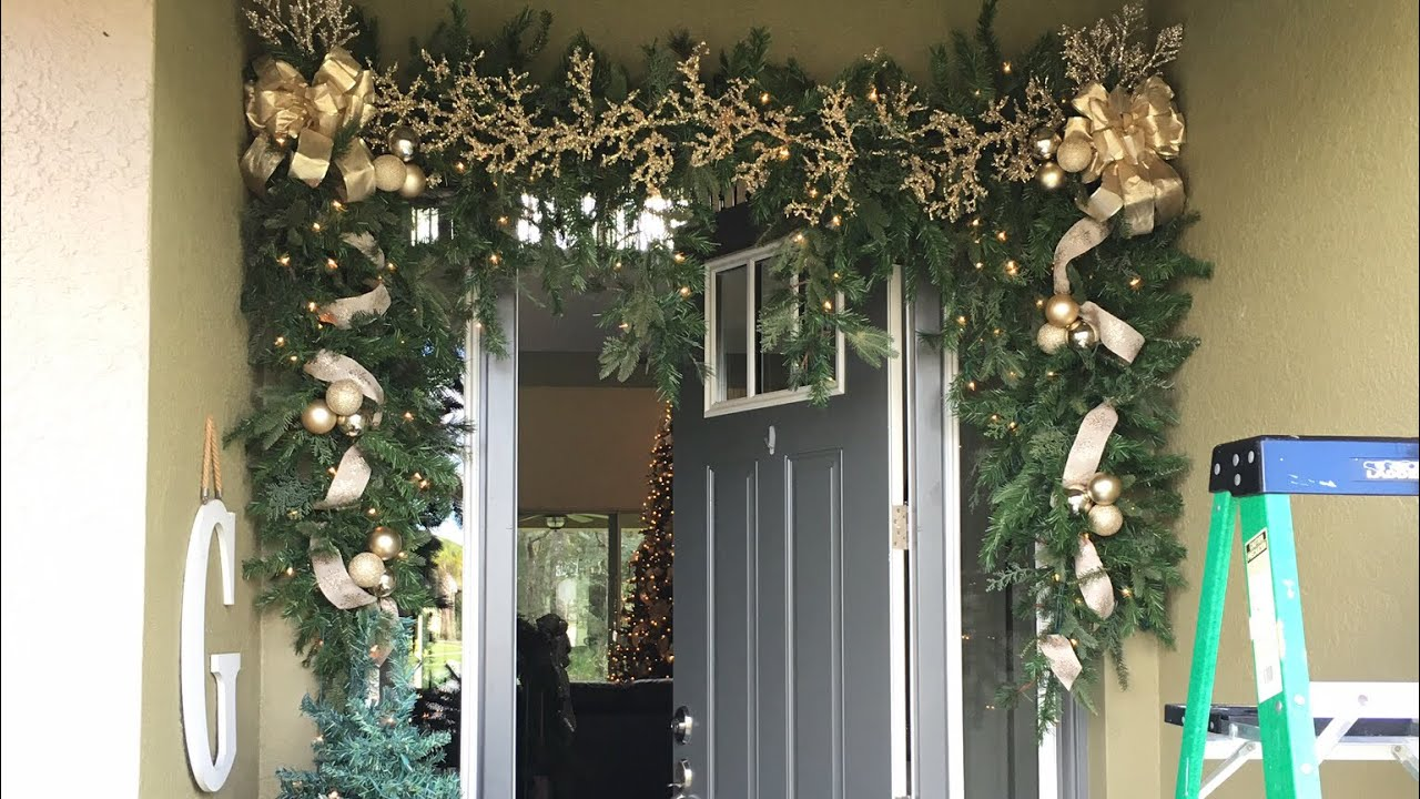 How To Hang Outdoor Garland Day 11 Of The 12 Days Of