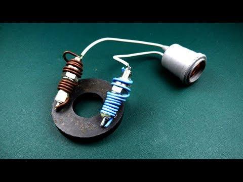 Смотреть Spark Plug Electric Free Energy device Using Magnet Coil 100% Work, New Technology for 2019 онлайн
