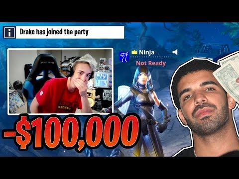 Ninja PAID Drake over $100,000 to Play Fortnite with His Music!- Fortnite Best and Funny Moments