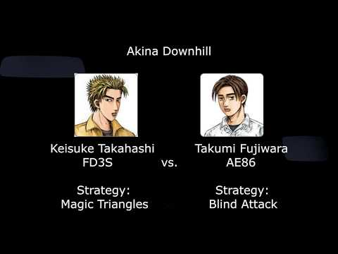 Assetto Corsa - Takumi vs Keisuke (Blind attack run)