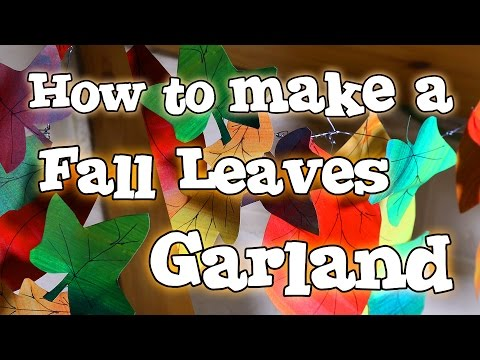 How to Make a Fall Leaves Garland - Autumn Craft Home Decor