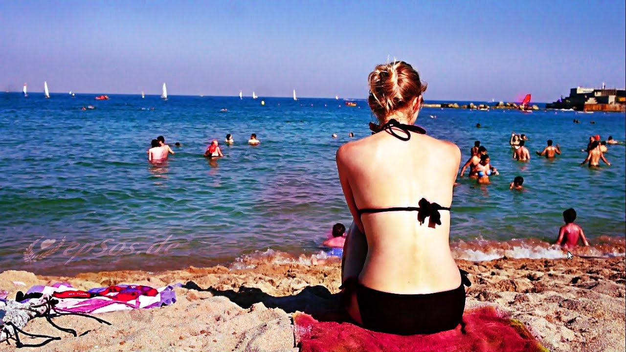 Barcelona Beach In The Summer