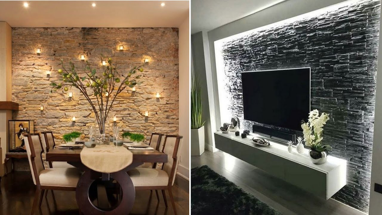 100 Modern stone wall decorating ideas for home interior ...