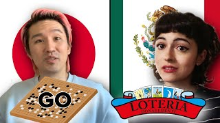 Japanese And Mexican People Swap Board Games