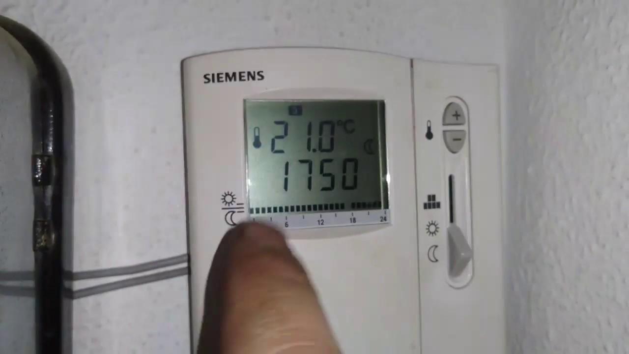 Termostato ambiente siemens como cambiar las pilas youtube - Programador calefaccion siemens ...
