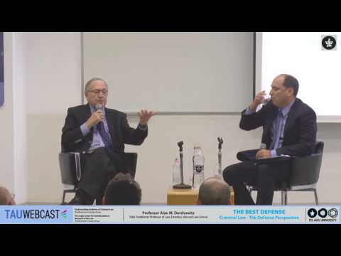 Criminal Law - Prof. Alan M. Dershowitz in conversation with Dr. Yoav Sapir
