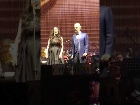 Andrea Bocelli and Maria Aleida - Libiamo ne' lieti calici, Tauron Arena, Krakow, 2017
