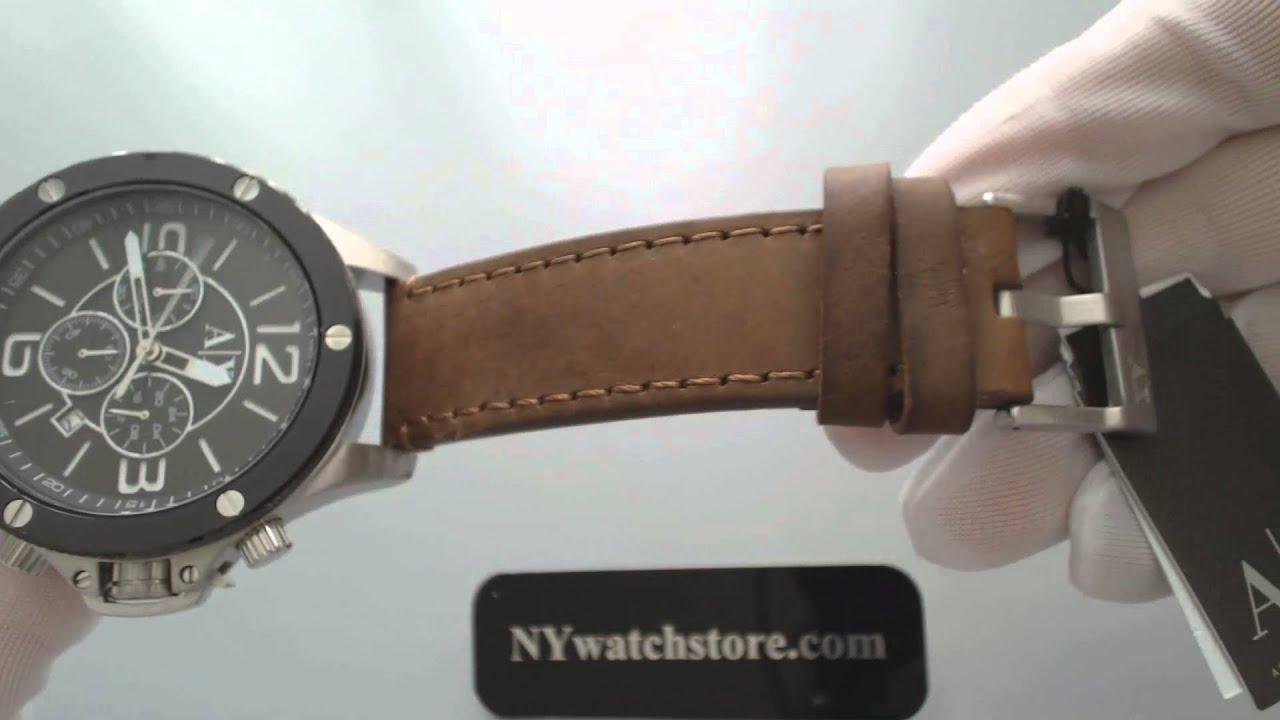 83c34d8800ac Men s Armani Exchange Well Worn Chronograph Watch AX1509 - YouTube