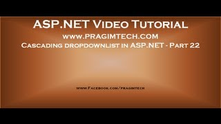Cascading dropdown asp.net   Part 22