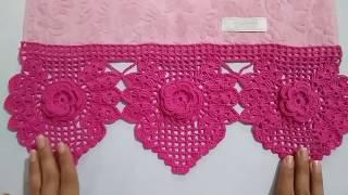 Passo a Passo – Barradinho de Crochê com Flores