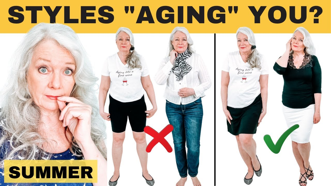CHANGE SUMMER STYLING & LOOK 10 YEARS YOUNGER ( Women over 50 )