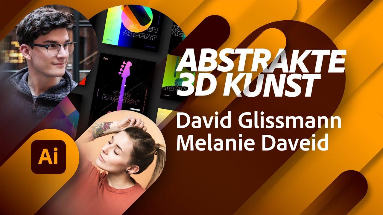 Abstrakte 3D Kunst mit David Glissmann |Adobe Live