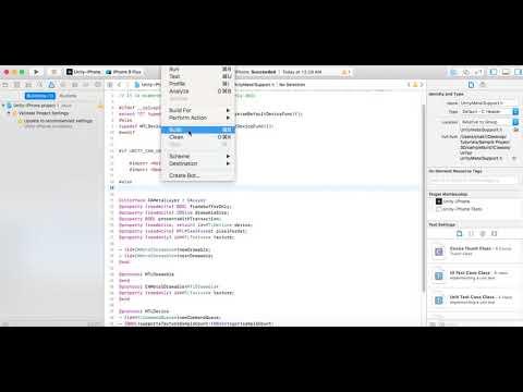 Unity 2017 1 0f3 64bit MacOSX Build XCode Metal Error For Simulator