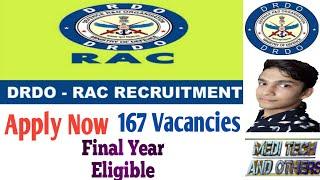 DRDO RAC Recruitment 2020