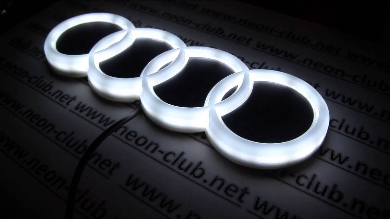 audi tuning 4d audi led emblem light car badge logo