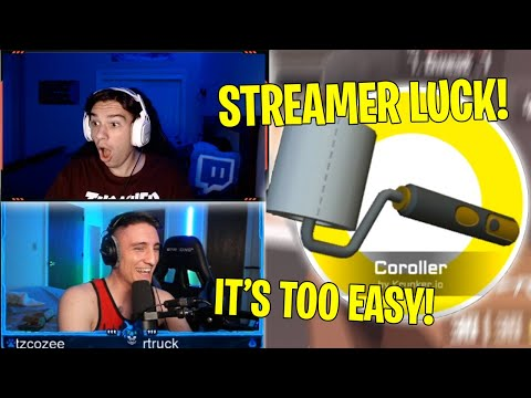 """STREAMERS UNBOX THE RAREST ITEMS """"COROLLER"""" KNIFE  - Krunker.io Twitch Clips of the Week"""