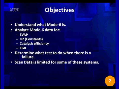 001 Welcome to the Diagnostics Behind Mode 6