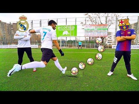 REAL MADRID vs BARCELONA CHALLENGE | RETOS DE FÚTBOL 100% ÉPICOS