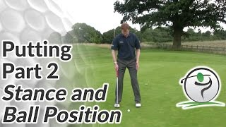 Golf Putting - Part 2 - Stance and Ball Position for a Putt