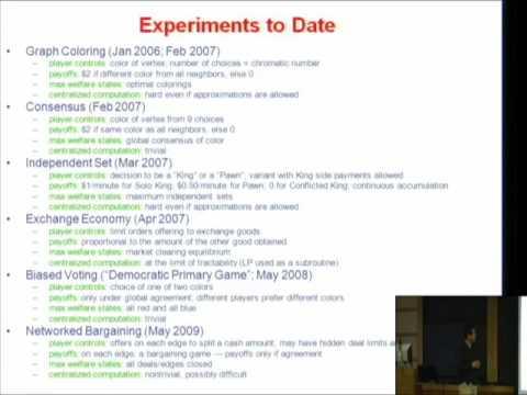 Behavioral Experiments in Strategic Networks - Michael Kearns