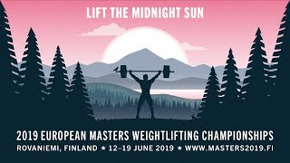2019 European Masters Weightlifting Championships - Day 8