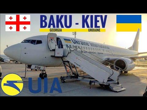 TRIPREPORT   UIA Ukraine International Airlines (ECONOMY)   Boeing 737–800   Kiev - Baku