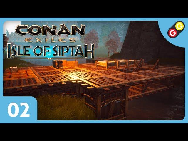 Conan Exiles : Isle of Siptah #02 On construit le début de notre base ! [FR]