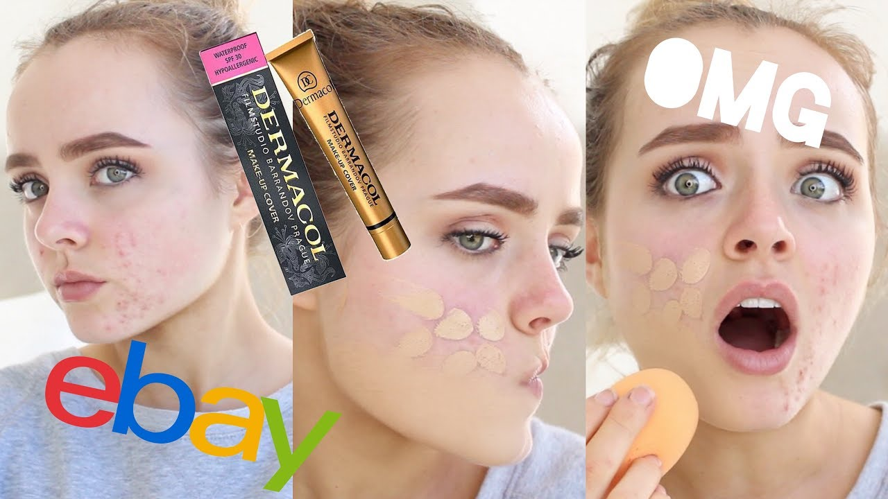 EXTREME COVERAGE EBAY FOUNDATION?? | DERMACOL MAKEUP COVER REVIEW ...