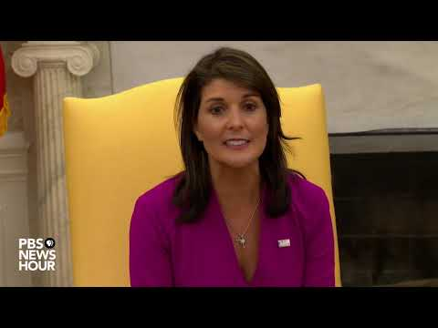 Trump says Haley leaving at \'end of the year\'