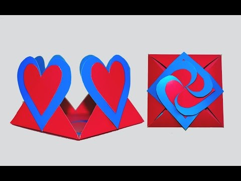 DIY crafts | How to make Love card sealed with hearts | Greeting envelope heart