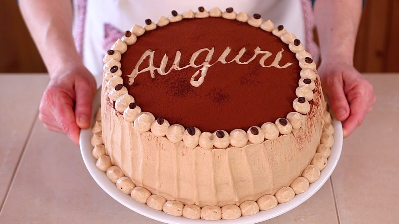 TORTA DI COMPLEANNO AL CAFFE\u0027 Ricetta Facile , Coffee Flavored Birthday  Cake Easy Recipe. Fatto in casa da Benedetta