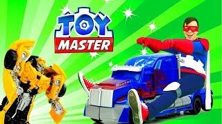 ТойМастер и Автоботы на раскопках Энергона! Трансформеры игры для детей.