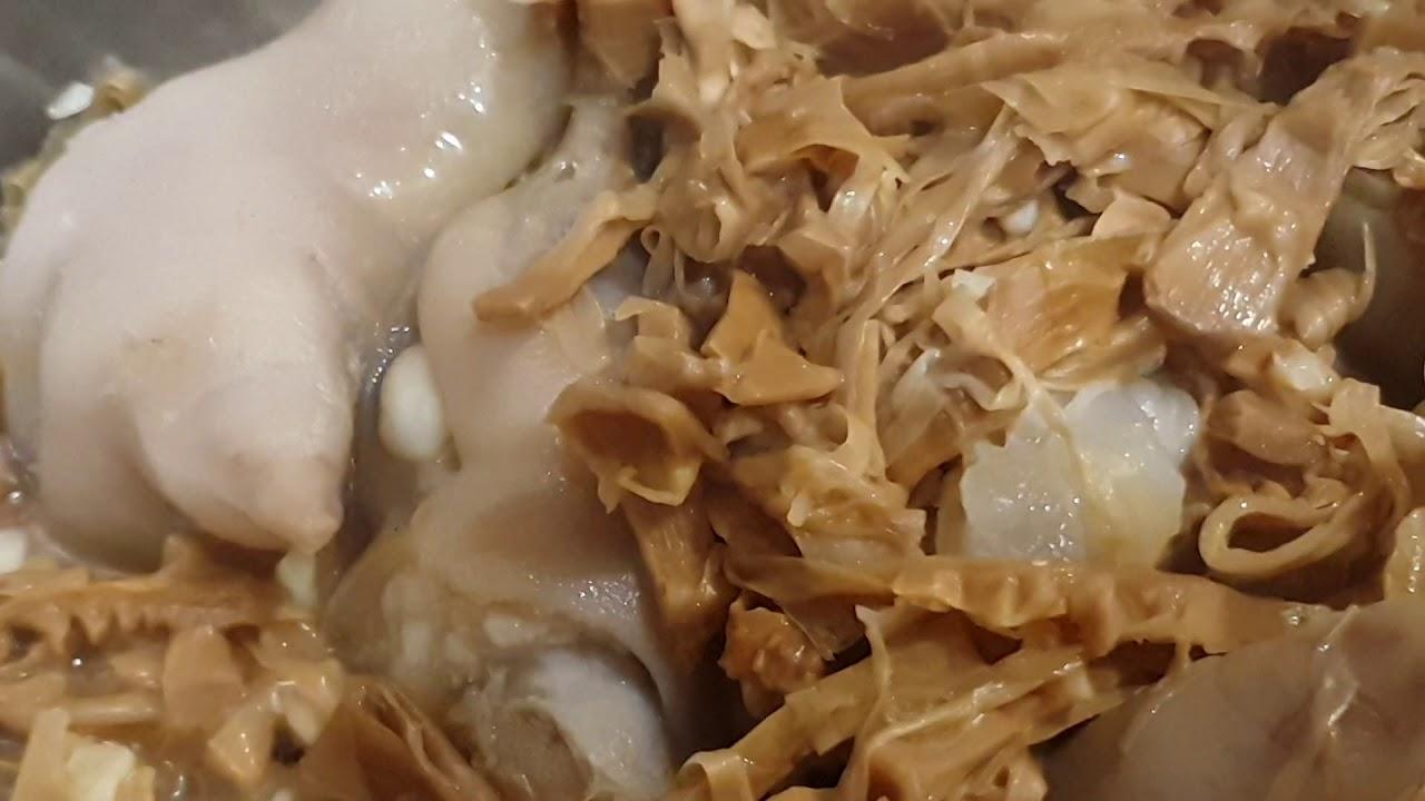 Móng Heo Kho Măng Siêu Mỡ Siêu Béo Không Dành Cho Người Đang Giảm Cân – Junie Nấu Ăn Fitness